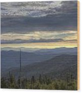 Clingmans Dome Sunset Wood Print