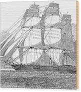 Clipper Ship, 1850 Wood Print