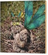 Clippy's Spring Wings Wood Print