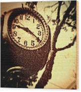 Clock In San Francisco  Wood Print
