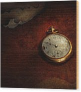 Clock - Time Waits For Nothing  Wood Print