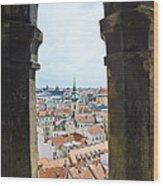 Clock Tower View - Prague Wood Print