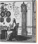 Clockmaker Wood Print by Science Source