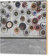 Clocks On The Wall Wood Print by Setsiri Silapasuwanchai