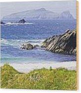 Clogher Beach, Blasket Islands, Dingle Wood Print