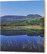 Clonee Loughs Co Kerry, Ireland Lake Wood Print