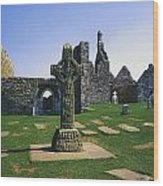 Clonmacnoise, Co Offaly, Ireland, West Wood Print