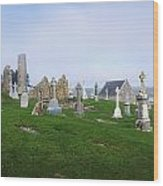 Clonmacnoise Monastery, County Offaly Wood Print