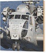 Close-up Of A Ch-53 Sea Stallion Wood Print