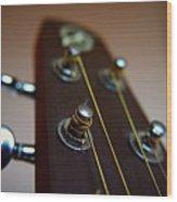 Close-up Of Guitar Wood Print by Image by Maistora (Vladimir Dimitroff)