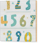 Close-up Of Numbers Wood Print