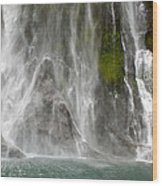 Close Up Of One Of The Many Waterfalls Wood Print by Brooke Whatnall