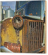 Close Up Of Rusty Truck Wood Print