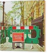 Closed Footpath Wood Print