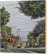 Closed On Sundays 2 - Amish Country Wood Print