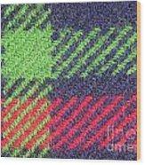 Closeup Of Multi-colored Fabric Wood Print