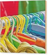 Clothes Hanging Wood Print