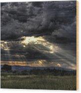Cloud Break Wood Print