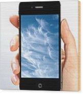 Cloud Computing Wood Print