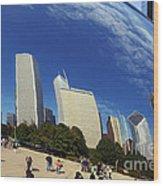 Cloud Gate Millenium Park Chicago Wood Print
