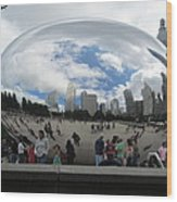 Cloud-gate-one Wood Print by Todd Sherlock