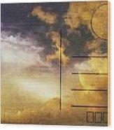 Cloud In Sunset On Postcard Wood Print by Setsiri Silapasuwanchai