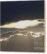 Cloud Lines Wood Print
