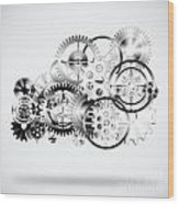 Cloud Made By Gears Wheels  Wood Print