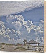 Cloud Merge Wood Print