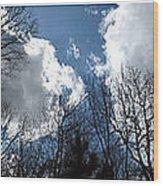 Cloud Panorama Wood Print