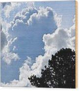 Cloud Power Wood Print