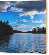 Cloud Reflections Wood Print
