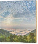 Cloud Sea Wood Print