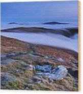 Cloud Waterfalls Bannerdale Crags Wood Print by Stewart Smith