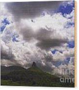 Clouded Hills At Nasik India Wood Print
