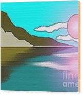 Clouded Sunrise Wood Print