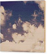 Clouds-2 Wood Print