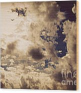 Clouds-8 Wood Print