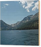 Clouds Above Emerald Bay Wood Print
