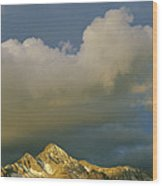 Clouds Above Mount Wilson Wood Print