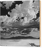 Clouds Above White Sands Wood Print