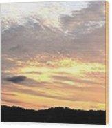 Clouds Afire Wood Print