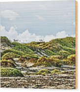 Clouds And Dunes Wood Print