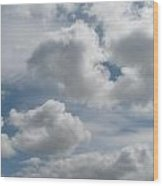 Clouds Are Alove Wood Print