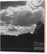 Clouds At Dusk Wood Print