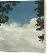 Clouds At Malletts Bay Wood Print