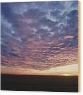 Clouds At Sunrise Wood Print