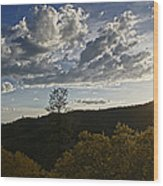 Clouds At Sunset II Wood Print