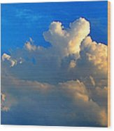 A Heart On Top Of The Clouds Wood Print