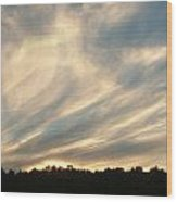 Clouds Delight Wood Print